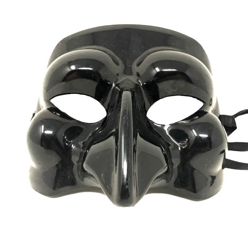 Maschera di Pulcinella in plastica da indossare 11ba5b34673e