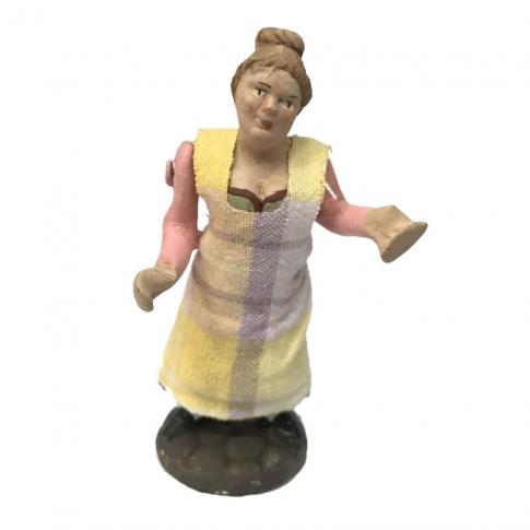 Donna 10 cm con braccio e busto in movimento