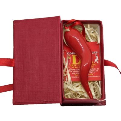 Corno in ceramica 9 cm con scatola regalo