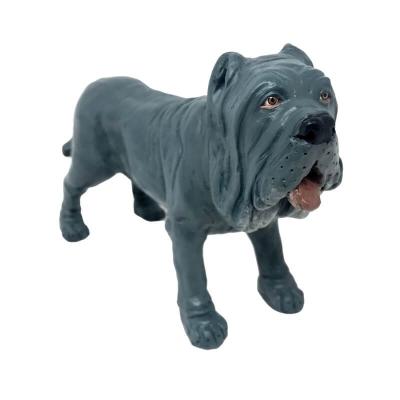 Cane in terracotta con occhi in vetro per presepe