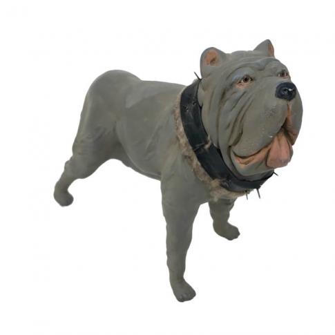 Cane in terracotta con occhi in vetro 25 cm