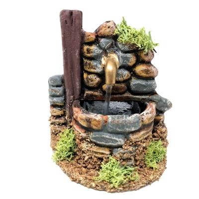 Fontana per presepe artigianale in terracotta 10 cm