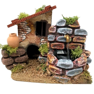 Casa in sughero con fontana 15 cm