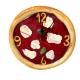 Orologio Pizza in terracotta 20 cm