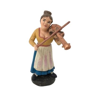 Suonatrice di violino in terracotta 10 cm