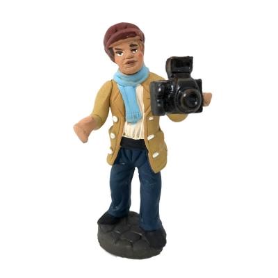Statuina del fotografo in terracotta 10 cm