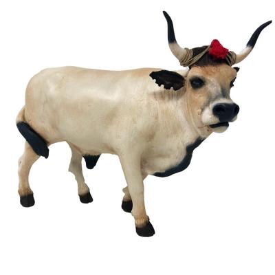 Mucca napoletana in terracotta con occhi in vetro