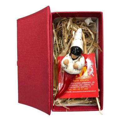 Pulcicorno in terracotta 6 cm con scatola da regalo