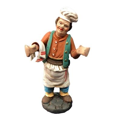 Cuoco-Pizzaiolo-Fornaio in terracotta 10 cm