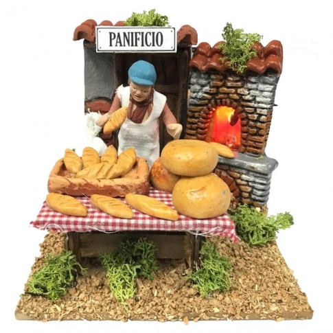Venditore di pane in movimento 7 cm