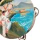 Tamburello con dipinto di Pulcinella 16 cm