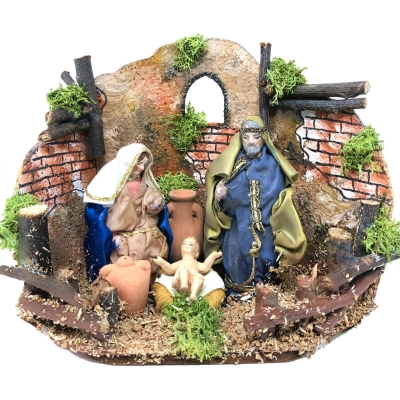 Natività in movimento 8 cm per presepe