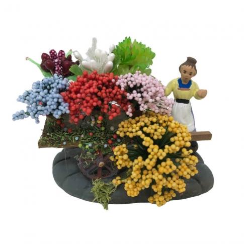 Bottega della Fioraia in miniatura 4 cm
