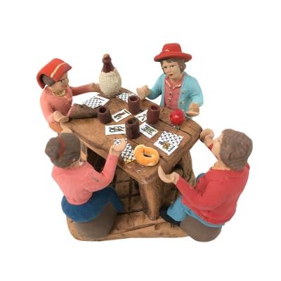 4 pastori a tavola che mangiano 7 cm