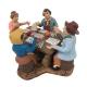 4 giocatori di tombola in terracotta 10 cm