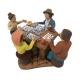 4 giocatori di tombola in terracotta 7 cm