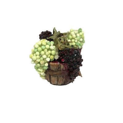 Cestino con uva per pastori da 10 a 15 cm