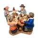 4 giocatori di carte in terracotta 10 cm