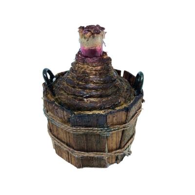Damigiana grande con vino per pastori da 15 a 30 cm