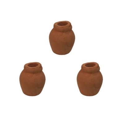 Set da 3 Anfore acqua in terracotta 2.5 cm