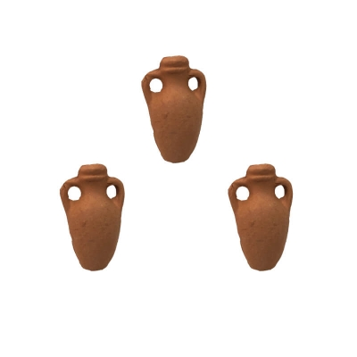 Set da 3 Anfore acqua in terracotta 1.5 cm