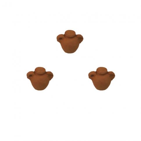 Set da 3 Anfore antiche in terracotta 3 cm