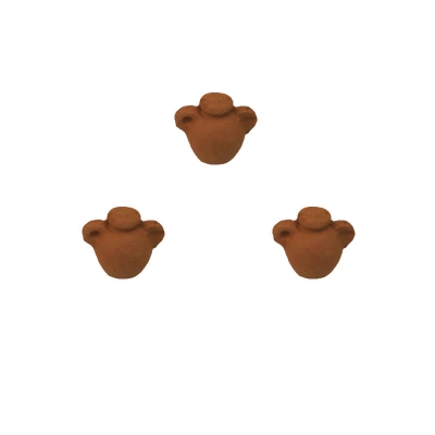 Set da 3 Anfore antiche in terracotta 3 cm