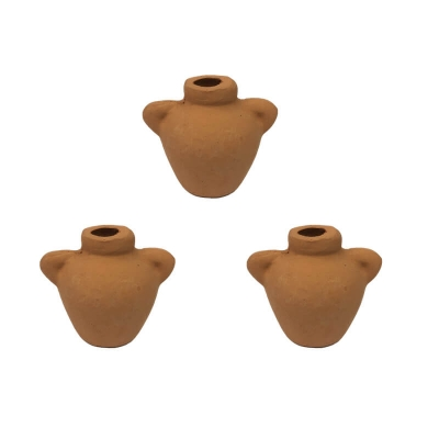 Set da 3 Anfore in terracotta 3.5 cm