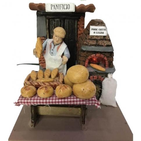 Venditore di Pane in movimento 10 cm