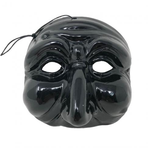 Maschera di Pulcinella nero 13 cm