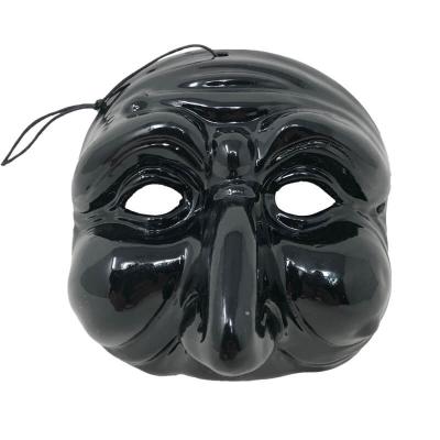Maschera di Pulcinella nera 13 cm