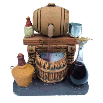 Vinaio in legno con bottiglia in vetro 12 cm