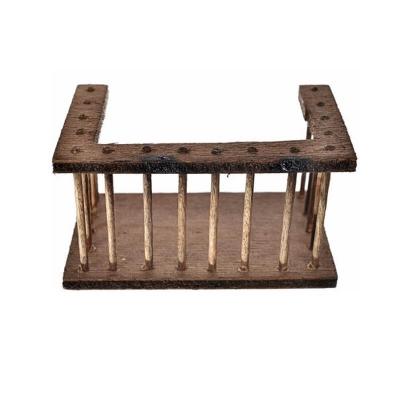 Balcone artigianale in legno per presepe 11 cm
