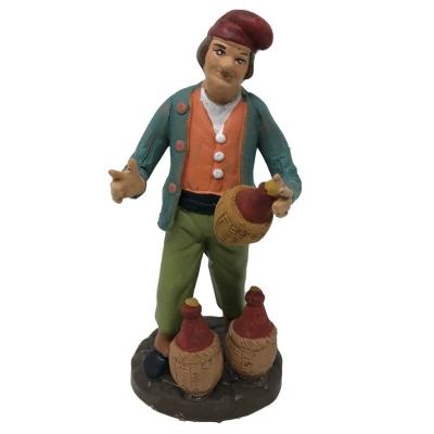 Venditore di vino in terracotta 12 cm