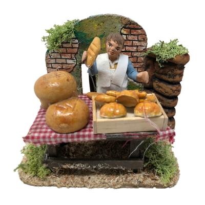 Venditore di pane in movimento 7 cm economico