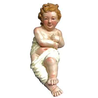 Gesù Bambino napoletano occhi in vetro per pastori da 35 a 40 cm
