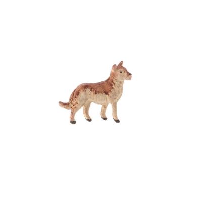 Cane lupo in terracotta 4 cm