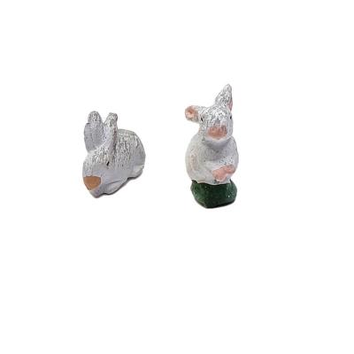 Coppia di conigli in terracotta 10 cm