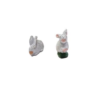 Coppia di conigli in terracotta 7 cm