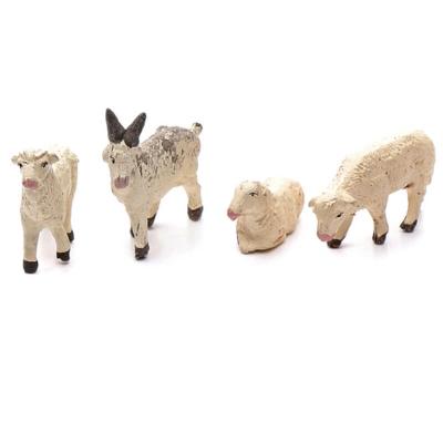 Tris di pecore e capra in terracotta 10 cm