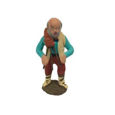 Zampognaro con zampogna in terracotta 4 cm