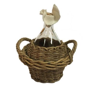 Damigiana per vino in vetro impagliata 8 cm