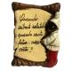 Mattonella di Pulcinella con frase portafortuna 10 cm