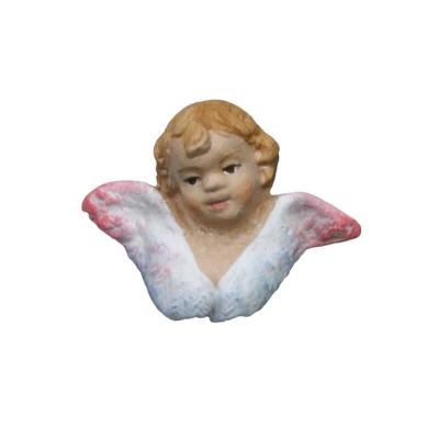 Testa dell'Angelo puttino in terracotta 10 cm