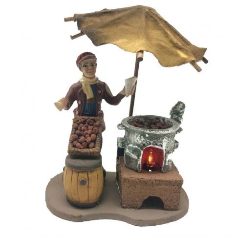 Castagnaro con luce fuoco 10 cm