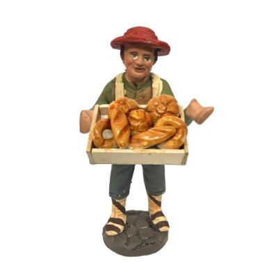 Panettiere con cassa di pane in terracotta 10 cm