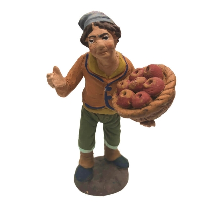Venditore di mele in terracotta 10 cm