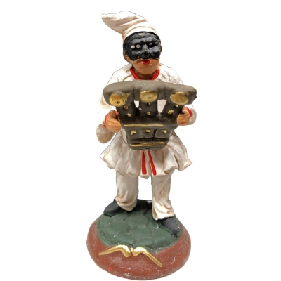 Pulcinella in terracotta con triccaballacche 7 cm