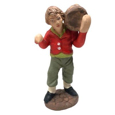 Uomo con botte in terracotta 7 cm