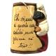 Tegola di Pulcinella con frase portafortuna 10 cm
